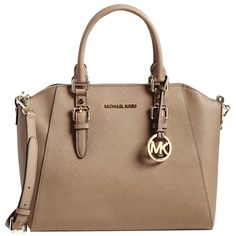 Pre-owned Michael Kors Saffiano Leather Large Bedford Tote Dark Dune... ($278) ❤ liked on Polyvore featuring bags, handbags, tote bags, dark dune, saffiano leather tote, shoulder strap purses, brown tote bags, tote purses and pocket tote