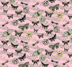 This is one of my fabric designs called Butterfly Waltz pink, available at Spoonflower
