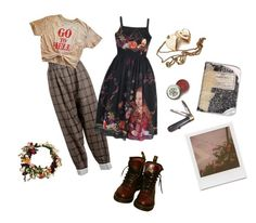 Untitled #17 by aiobheann on Polyvore featuring polyvore, CÉLINE, Dr. Martens, Retrò, Impossible Project, fashion, style and clothing