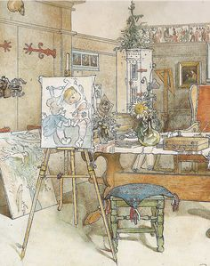 Carl Larsson I'm so glad he wanted to add at least one of his kids in most of his paintings. they were so CUTE!