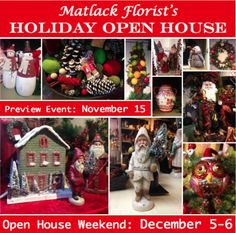Matlack Florist's Holiday Open House  #MatlackFlorist