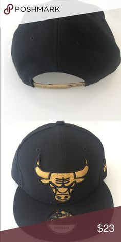 Chicago Bulls SnapBack Gold Black 27589fdc151