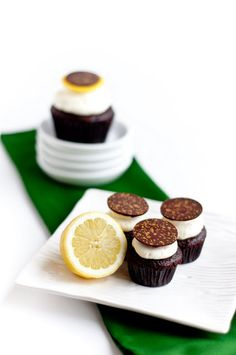 ♀ Food styling photography still life - Desserts for Breakfast: Chocolate + Lemon Mascarpone Cupcakes