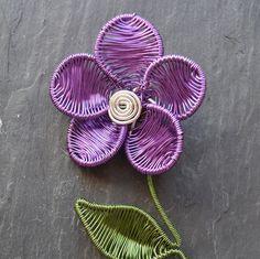Purple flower brooch hat pin lapel pin. New bijoux by poppyredshop