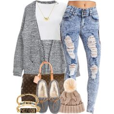 A fashion look from December 2014 featuring Lipsy tops, Charlotte Russe jeans and UGG Australia shoes. Browse and shop related looks.