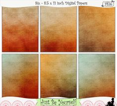Fabric Harvest Sun Digital Papers Instant Download by JustBYourself on Etsy, (1476) $2.75