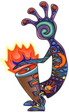 Whatever the true meaning of Kokopelli, he has been a source of music making and dancing, spreading joy to those around him...That's what us Mediteranean peeps are all about, too.