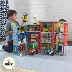 KidKraft Everyday Heroes Police and Fire Firefighters Play Set - Walmart.com