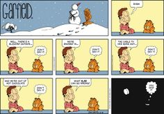 Garfield by Jim Davis Sunday, February 2014 Garfield Quotes, Garfield Cartoon, Garfield And Odie, Garfield Comics, Garfield Pictures, Cat Cartoons, Funny Jokes, Hilarious, Pokemon