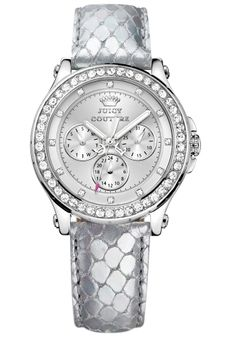 The watch I want, can't find anything like it! However I do want a metal strap Casual Watches, Cool Watches, Juicy Couture Watch, Accessorize Bags, Rose Gold Watches, Metallic Leather, Fashion Watches, Bracelet Watch, Jewelry Watches