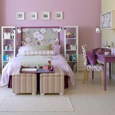 Girls Bedroom Purple decor for teenage bedrooms | room decorating ideas, light purple