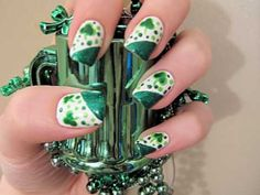 St. Patrick's Day Nail Art - Let's see if I can actually do this...