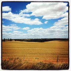 Outback Australia road from Adelaide SA to Mildura VIC