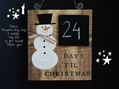 Days Till Christmas, Merry Christmas, Christmas Wood Crafts, Christmas Gifts For Girls, Christmas Signs, Christmas Projects, Winter Christmas, Holiday Crafts, Christmas Ornaments