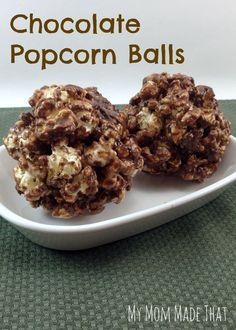 My Mom Made That: Chocolate Popcorn Balls