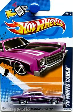 find best value and selection for your 1970 chevy monte carlo 2012 hot wheels muscle mania 7 10 purple black search on ebay worlds leading marketplace - Rare Hot Wheels Cars 2012