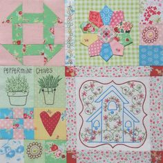 Love the look of mixing quilting and embroidery together....