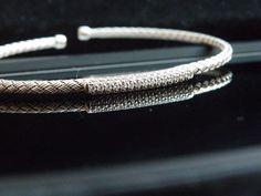 New Sterling Silver CZ Cubic Zirconia Byzantine Braided Wrap Bracelet Adjustable #JCM #Tennis