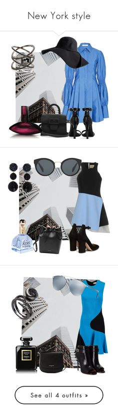 """""""New York style"""" by sofiacalo ❤ liked on Polyvore featuring Adeam, Yves Saint Laurent, Maison Margiela, Calvin Klein, Eva Fehren, FAUSTO PUGLISI, Gianvito Rossi, Mansur Gavriel, Humble Chic and Prada"""