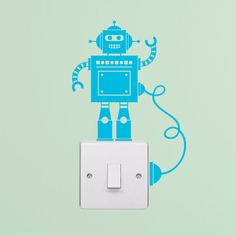 Productdetails: Kleine Robot lichtschakelaar met draad Decal Vinyl muur Stickers  Dit vriendelijke kleine robot zou maken een geweldige aanvulling van ieder kind kamer of speelkamer. Hij wordt geleverd met een beetje draad zodat hij volledig opgeladen blijven kan. Andere lichtschakelaar muur stickers zijn beschikbaar in onze winkel. Met 19 verschillende kleuren om uit te kiezen, welke zal u kiezen? Neem een kijkje op de tribune voor de foto van onze kleurenkaart om te beslissen. (Let op: de…