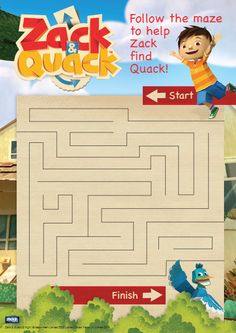Zack and Quack Tv Schedule, Nick Jr, Video Clip, Colouring Pages, Maze, Preschool Activities, Games For Kids, Party Ideas, It Is Finished