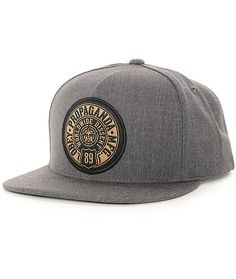 """Bring an iconic street style to your hat game with the Obey 89 Prop snapback hat. This snapback style features an """"Obey Propaganda Mfg 89 Worldwide Dissent"""" icon star logo patch applied on the front of a stylish and comfortable acrylic-wool blended charco"""