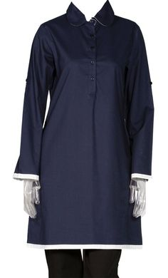 East Essence Tunic Dress  -  at PlusSizeDesi.com #psdesi #plussize #plussizedesi #desiclothing #psd Kaftan Style, Modest Wear, Embroidered Tunic, Cotton Tunics, Collar Shirts, Shirt Style, Tunic Tops, Poplin, Warm Weather