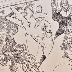 Sam Guay Illustration — Detail from Katana by Katsuya Terada, probably my...