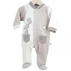 """Pijama """"3 Ositos"""" #pijama #bebe #reciennacido #ositos #blanco #gris #kinousses Pyjamas, Bodies, Pajama Party, Baby Boy, Suits, Swimwear, Sweaters, Babies Clothes, Baby Style"""