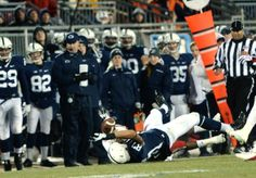 PENN STATE – FOOTBALL 2013 – TIGHT END Kyle Carter gained a first down on this 22-yard catch along right sideline.