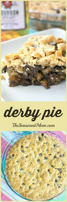 A thick, gooey chocolate chip cookie meets a warm buttery pie thats spiked with just the right amount of bourbon for a heavenly and decadent Southern dessert! Perfect for Derby Day parties!