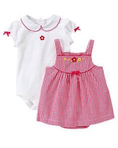 Floral Gingham Two-Piece Set  3 - 6 mo