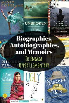 """Inspire and motivate your 3rd, 4th, and 5th grade students with these nonfiction biographies, autobiorgaphies, and memoirs that will get them saying, """"Did this really happen?"""" Even your most reluctant readers will be fascinated by people that have impacted our world or overcome difficult challenges. Use these as read alouds or for independent reading with upper elementary students."""