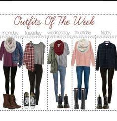 Outfits for a week