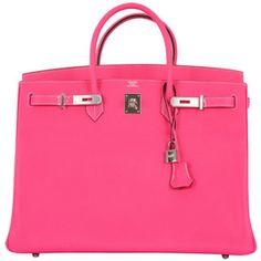 HERMES BIRKIN BAG 40CM ROSE TYRIEN EPSOM INSANITY!! - Hermès - Polyvore
