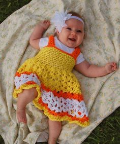 Crochet Baby Dress Idea