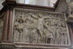 Pulpito del battistero di Pisa - LA CROCIFISSIONE
