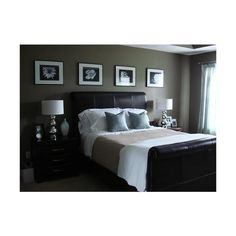 dark bedroom, blue, gray, brown found on Polyvore