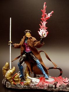this is the toybiz Marvel Legends Series 4 Gambit he is a great addition to your jim lee x-men or Xavier institute collections happy pinning