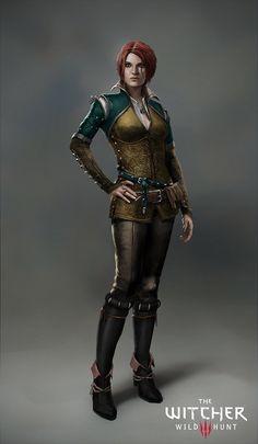 The Witcher 3: Triss Merigold, Marek Madej on ArtStation at https://www.artstation.com/artwork/the-witcher-3-triss-merigold