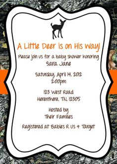 Maxx 4 camo carriage baby shower invitation by lovebandpdesigns mossy oak baby shower invitation deer 1200 via etsy filmwisefo