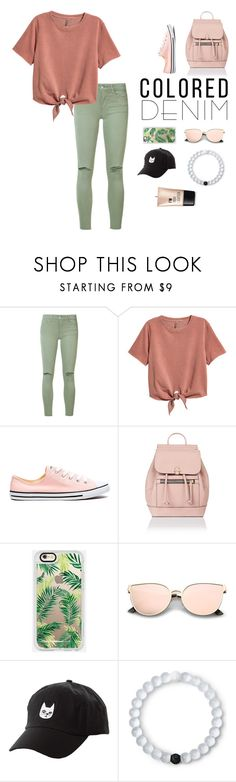 """Colored Jeans"" by grace-granger on Polyvore featuring Joe's Jeans, Converse, Accessorize, Casetify, Charlotte Russe, Lokai, contest, contestentry and coloredjeans"