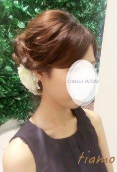 ドレスから和装へチェンジ!ルーズな4スタイル♡リハ篇 | 大人可愛いブライダルヘアメイク 『tiamo』 の結婚カタログ