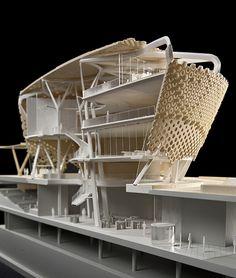 grimshaw Cinema Architecture, Architecture Model Making, Architecture Portfolio, Futuristic Architecture, Concept Architecture, Architecture Details, Architectural Thesis, Architectural Elements, Archi Design