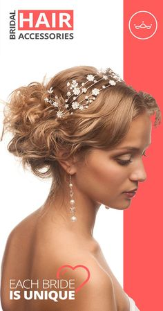 Bridal Hair Accessories - Simple Way To Add Personal Touch To Your Wedding Look ★ Tiaras • Headband • Hair Combs • Hair Clips • Hair Flowers • Hairpins • Jewelry Sets ★ It's All In bridalhairs.com