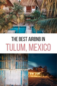 Where to stay in Mexico? Let me introduce you to the dreamiest Tulum Airbnb - for honeymooners, digital nomads & wanderers. Tree houses, jungle villas, beach condos, and chic rooms in Tulum town as well as Tulum Playa. As well as tips on how to book your Airbnb in Tulum. #mexico #tulum Airbnb in Tulum | Tulum Mexico Airbnb | Best Airbnb in Tulum | Rental houses in Tulum | Where to stay in Tulum | Tulum Accommodation | Where to stay on Tulum beach Tulum Mexico, Mexico Trips, Restaurant On The Beach, Tulum Beach, Mexico House, Beach Condo, Baja California, Instagram Worthy, Cozumel