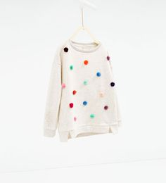 Image 2 of Pompoms sweatshirt from Zara