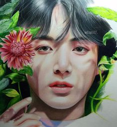 too much leaves should I stop drawing them . Bt S, Dna Test, Kpop Fanart, Art Drawings, Joker, Fan Art, Watercolor, 3d Printing, Fictional Characters