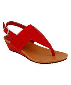 Love this Red Brenda Sandal on #zulily! #zulilyfinds