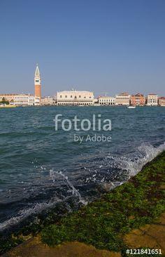 View From San Giorgio Maggiore To St Mark's Campanile Bell Tower In Venice Italy